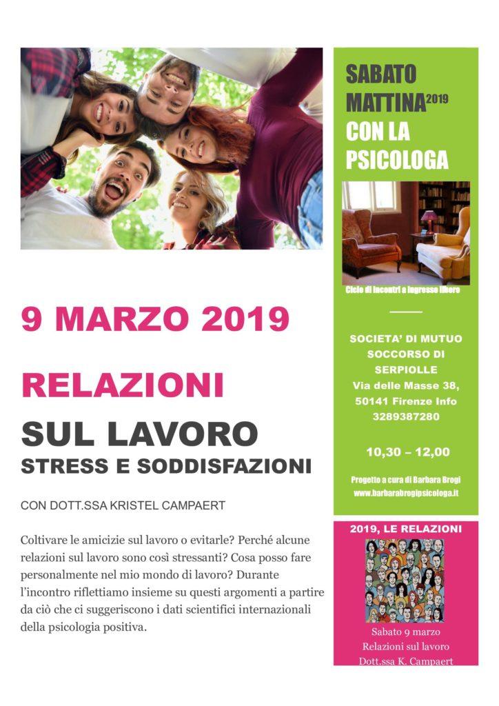 relazioni sul lavoro, stress e soddisfazione